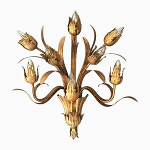 Large Spanish Flower Bud Wall Sconce, 1950s