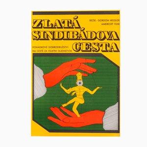 The Golden Voyage of Sinbad Movie Poster by Olga Fischerová, 1977