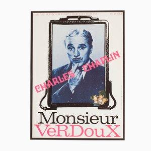 Poster Monsieur Verdoux vintage di Milan Grygar, 1974