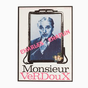 Vintage Monsieur Verdoux Movie Poster by Milan Grygar, 1974