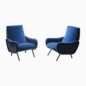 Mid-Century Italian Armchairs from Pizzetti, 1950s, Set of 2