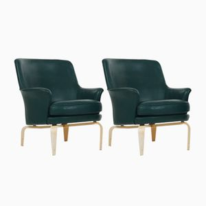 Pilot Leather Armchairs by Arne Norell, 1973, Set of 2