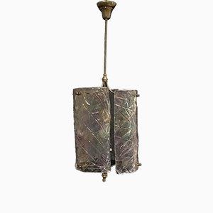 Lámpara de techo vintage de cristal de Murano de Mazzega