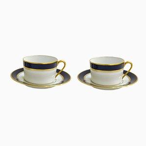 Limoges Porcelain Palermo Coffee Service Set from Bernardaud, 1960s