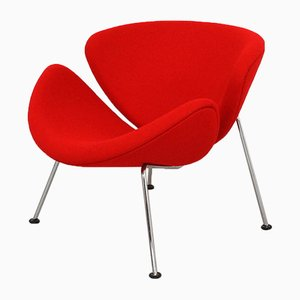 Chaise Slice Rouge Orange par Pierre Paulin pour Artifort