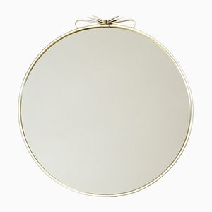 Golden Metal Mirror with Bow, 1950s