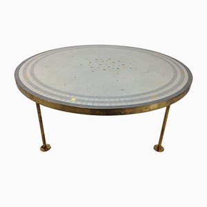 Round Mosaic Coffee Table by Berthold Müller, 1950s