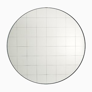 Large Centimetri Wall Mirror by Studiocharlie for Atipico in Gray Blue
