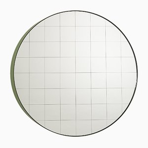 Large Centimetri Wall Mirror by Studiocharlie for Atipico in Olive Green