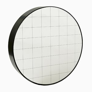 Large Centimetri Wall Mirror by Studiocharlie for Atipico in Deep Black