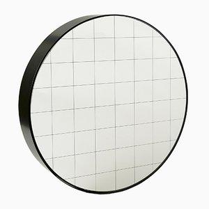 Large Centimetri Wall Mirror by Studiocharlie for Atipico in Deep Black