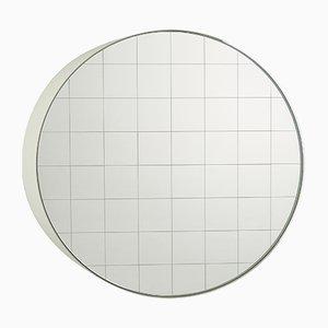 Großer Centimetri Wandspiegel von Studiocharlie für Atipico in Signalweiß
