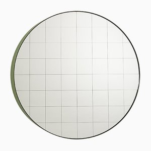 Medium Centimetri Wall Mirror by Studiocharlie for Atipico in Olive Green
