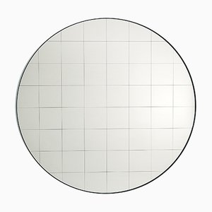 Medium Centimetri Wall Mirror by Studiocharlie for Atipico in Silk Gray