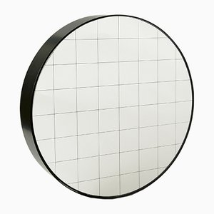 Medium Centimetri Wall Mirror by Studiocharlie for Atipico in Deep Black