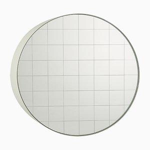 Medium Centimetri Wandspiegel von Studiocharlie für Atipico in Signalweiß