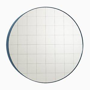 Espejo de pared Centimetri pequeño en azul grisáceo de Studiocharlie para Atipico