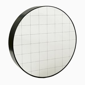 Small Centimetri Wall Mirror by Studiocharlie for Atipico in Deep Black