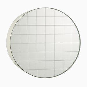 Small Centimetri Wall Mirror by Studiocharlie for Atipico in Signal White