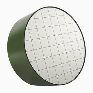 Espejo de mesa Centimetri grande en verde oliva de Studiocharlie para Atipico