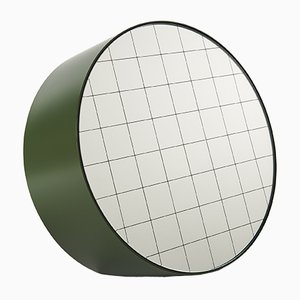 Large Centimetri Table Mirror by Studiocharlie for Atipico in Olive Green