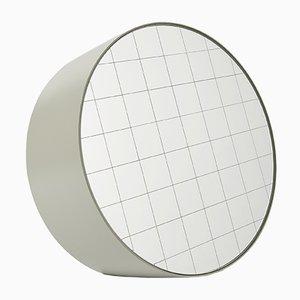 Espejo de mesa Centimetri grande en gris seda de Studiocharlie para Atipico