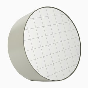 Grand Miroir à Poser Centimetri Gris Soie par Studiocharlie pour Atipico