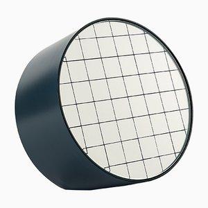 Espejo de mesa Centimetri mediano en azul grisáceo de Studiocharlie para Atipico