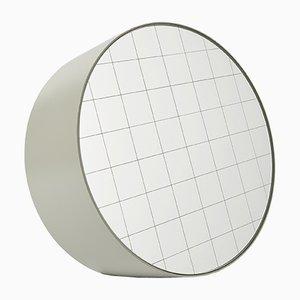 Espejo de mesa Centimetri mediano en gris seda de Studiocharlie para Atipico