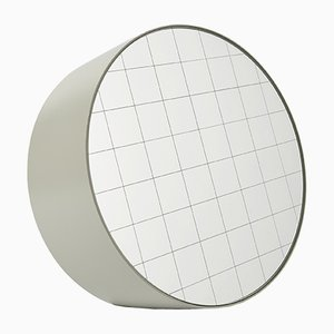 Regular Centimetri Table Mirror by Studiocharlie for Atipico in Silk Gray
