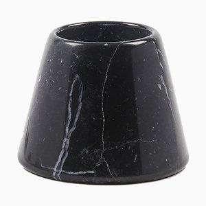 Kleiner Tellus Kerzenhalter von René Barba für Atipico in Nero Marquinia