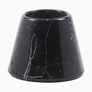 Small Tellus Candle Holder by René Barba for Atipico in Marquinia Black