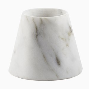 Small Tellus Candle Holder by René Barba for Atipico in Carrara Marble