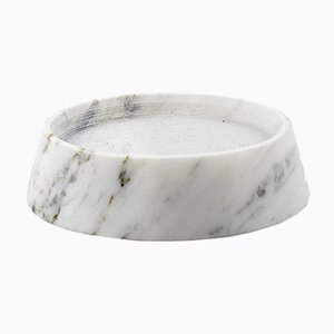 Extra Small Tellus Candle Holder by René Barba for Atipico in Carrara Marble