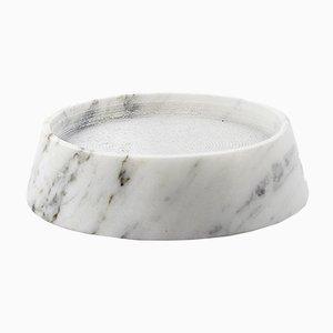 Extrakleiner Tellus Kerzenhalter von René Barba für Atipico in Carrara Marmor