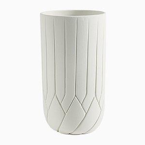 Grand Vase Frattali Écru par Faberhama pour Atipico
