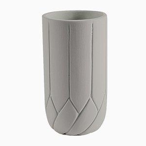 Petit Vase Frattali Gris Beige par Faberhama pour Atipico
