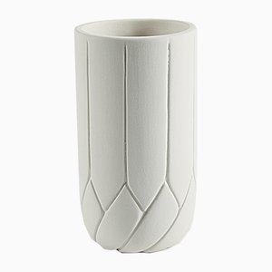 Kleine Frattali Vase von Faberhama für Atipico in Cremefarbe