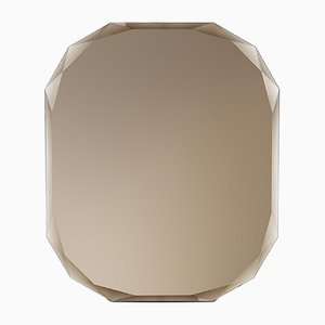 Espejo de pared rectangular en bronce de Carlo Trevisani para Atipico