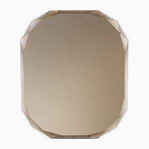 Specchio a muro rettangolare color bronzo di Carlo Trevisani per Atipico