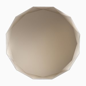 Round Wall Mirror by Carlo Trevisani for Atipico in Bronze