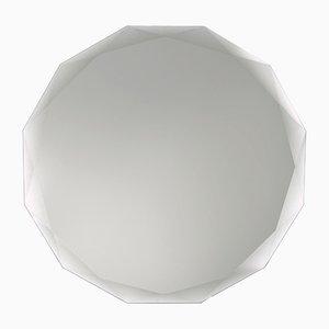Miroir Mural Rond Blanc par Carlo Trevisani pour Atipico