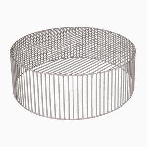 Grande Table Basse Cylindrique Tamburo Gris Beige par Antonino Sciortino pour Atipico