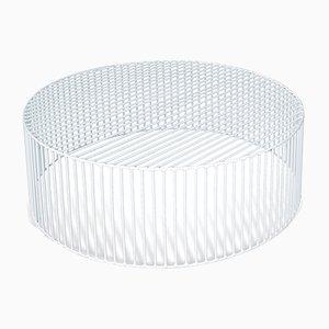Grande Table Basse Cylindrique Tamburo Blanche par Antonino Sciortino pour Atipico