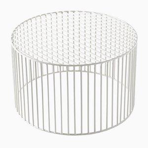 Table Basse Médium Cylindrique Tamburo Blanche par Antonino Sciortino pour Atipico