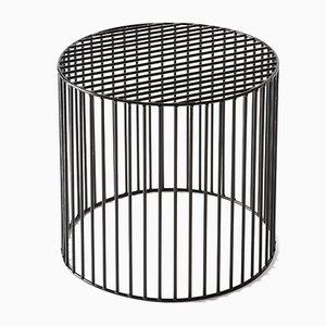 Petite Table Basse Cylindrique Tamburo Noire par Antonino Sciortino pour Atipico