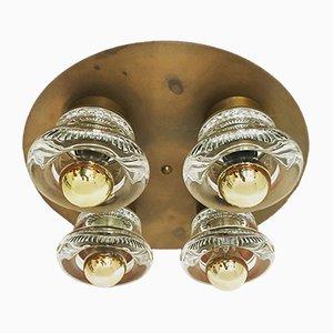 Lampada da parete o da soffitto in ottone di Cosack, anni '60