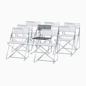 X-Line Esszimmerstühle von Niels J. Haugesen für Hydoban, 1977, 8er Set