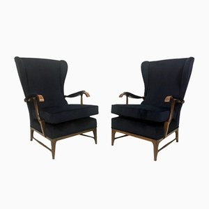 Mid-Century Italian Lounge Chairs by Paolo Buffa, Set of 2