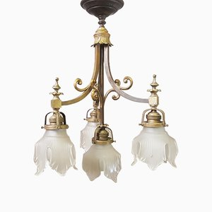 Lustre 5 Lumières Antique